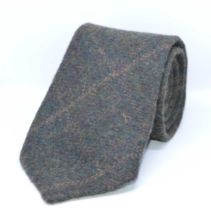 Autumn Green Windowpane Tweed Tie