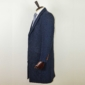 classic navy tweed overcoat