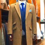 light brown tweed overcoat