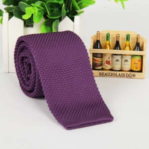 Lilac Italian Cut Luxury Slim Knitted Tie