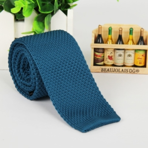 Cerulean Blue Italian Cut Luxury Slim Knitted Tie
