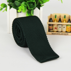 Forest Green Italian Cut Luxury Slim Knitted Tie