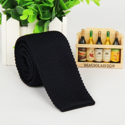 Navy Italian Cut Luxury Slim Knitted Tie