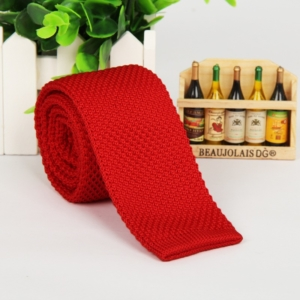 Chilli Red Italian Cut Luxury Slim Knitted Tie