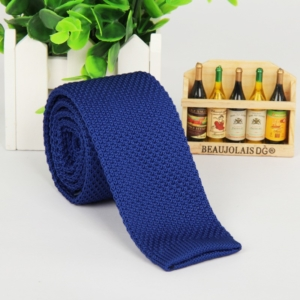 Royal Blue Italian Cut Luxury Slim Knitted Tie