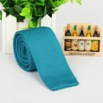 Sea Blue Italian Cut Luxury Slim Knitted Tie
