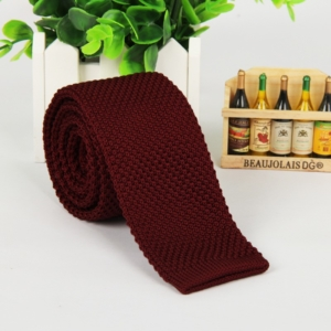 Burgundy Italian Cut Luxury Slim Knitted Tie