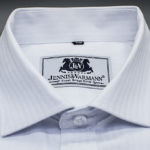 White Herringbone Luxury Cotton Shirt