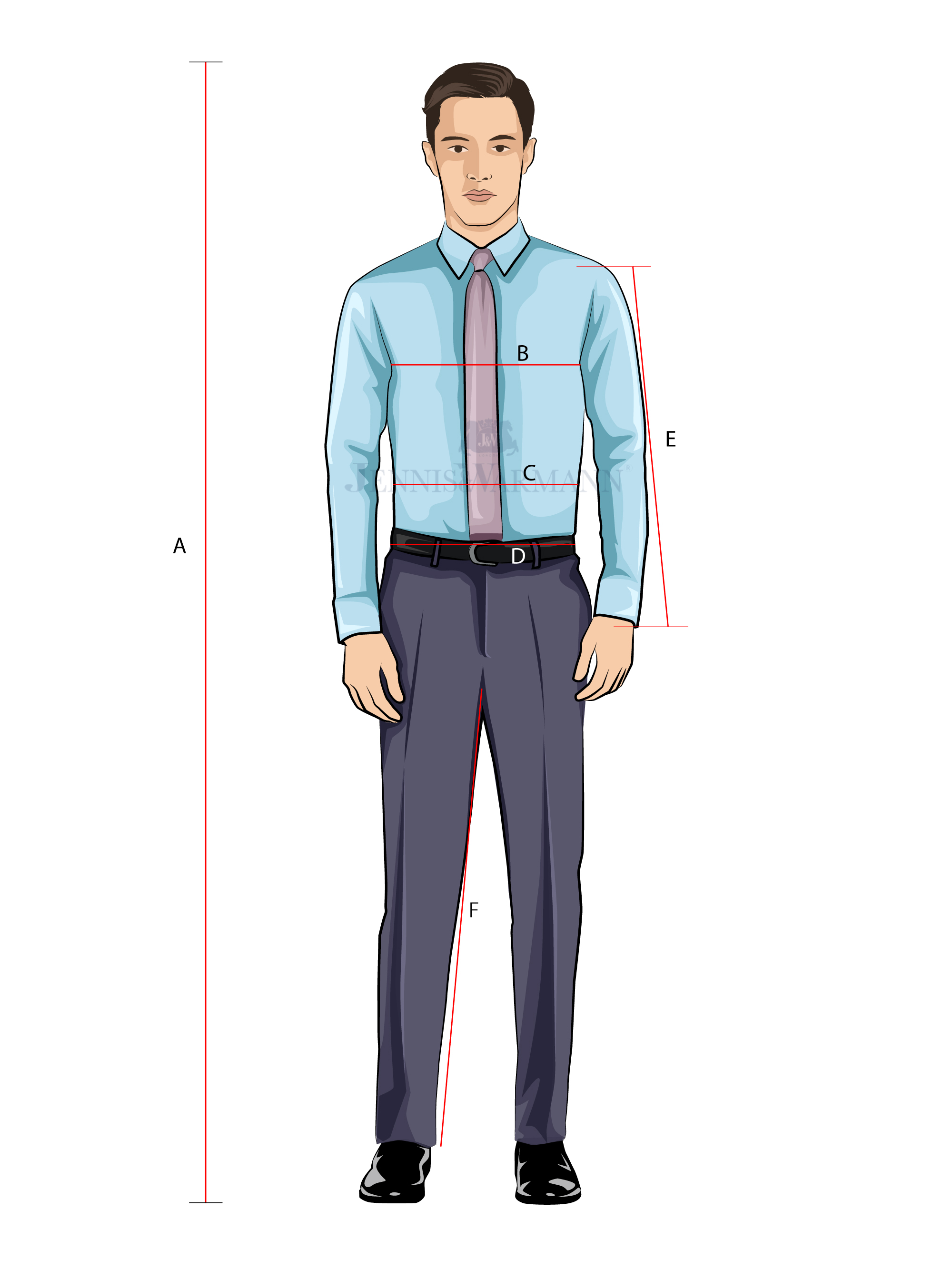 Standard Suit Size Guide