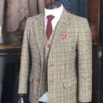 Traditional Brown Prince of Wales Check Tweed Suit