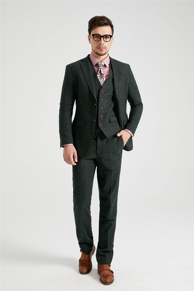 Green Speckled Donegal Tweed Suit