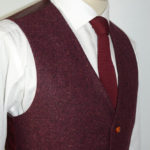 MAUVE SPECKLED DONEGAL TWEED SUIT