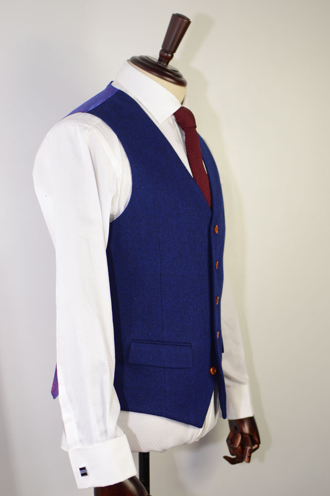 ROYAL BLUE DONEGAL TWEED SUIT