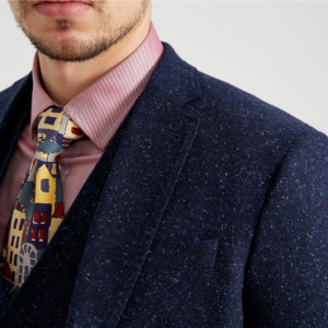 Navy Speckled Donegal Tweed Suit