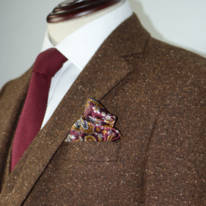 Brown Speckled Donegal Tweed