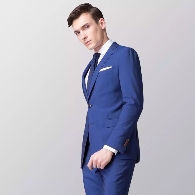 Royal Blue Worsted Wool Suit