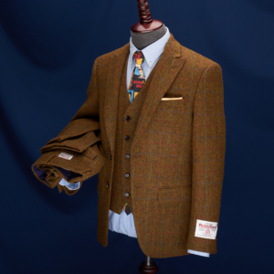 Gold Coast Brown Overcheck Harris Tweed Suit