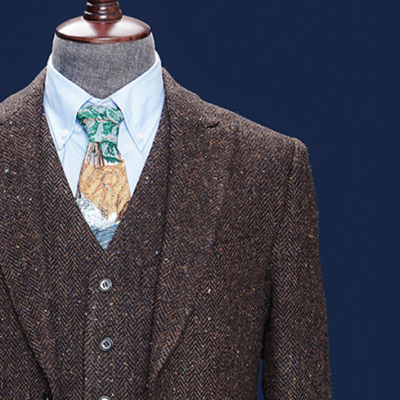 Hemingway Rusty Brown Harris Tweed Suit