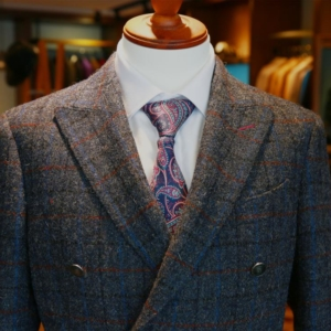 Windsor Twill Grey Windowpane Tweed Sports Coat