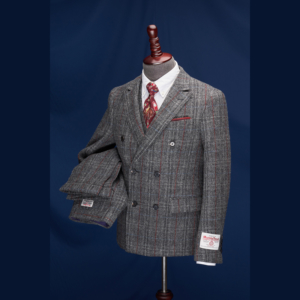 Buckingham Grey Estate Overcheck Harris Tweed Suit
