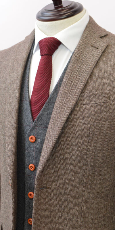 Brown Classic Herringbone Mix & Match Tweed