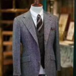 Rugby Grey Harris Tweed Tailored Fit Suit