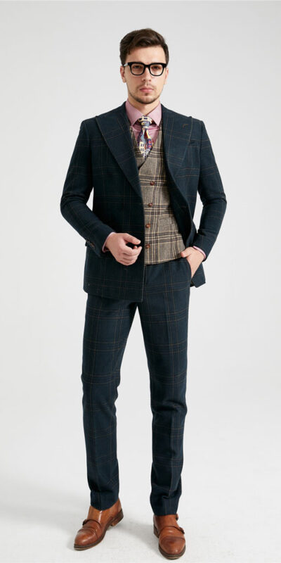 The Emperor Green Tartan Mix & Match Tweed Suit