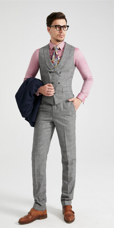 MD19 3 Piece Combination Tweed Suit
