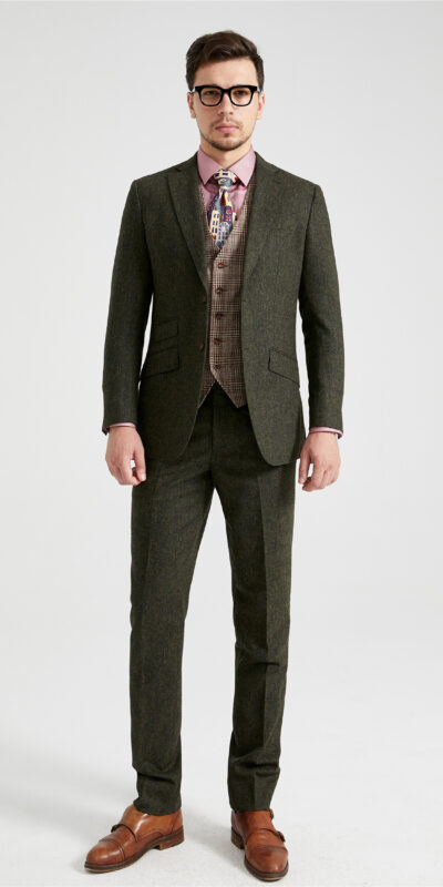 Green Barleycorn Mix & Match Tweed Suit