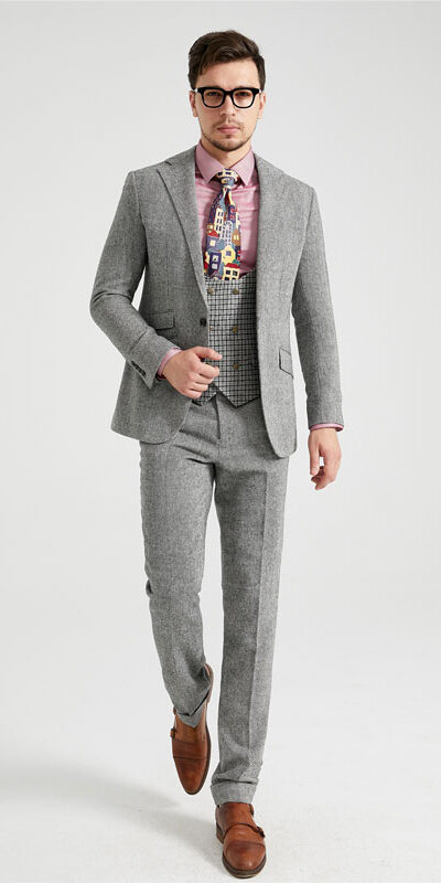 DX9 3 Piece Combination Tweed Suit