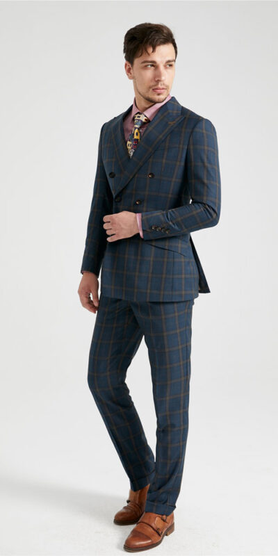 Racing Green Check Suit