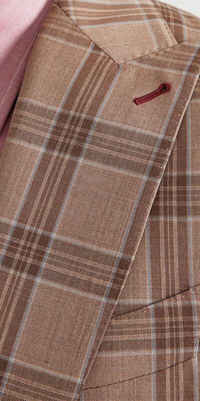 Dusty Tan Alfredo Check Suit
