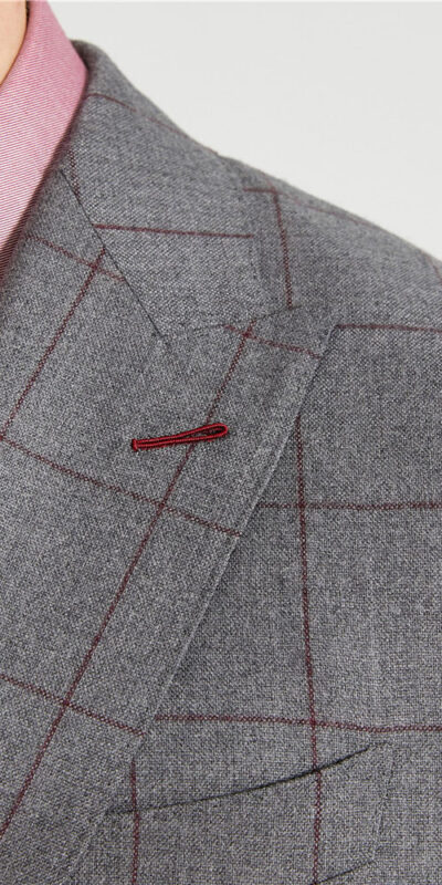 Danbury Grey Windowpane Suit