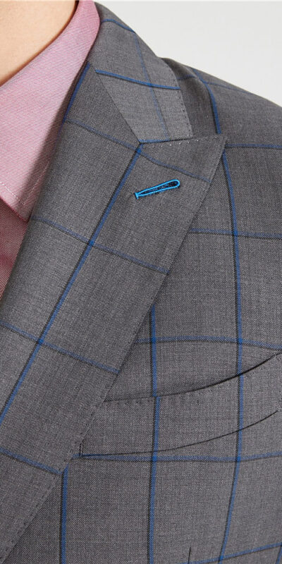 Charcoal Grey Windowpane Suit