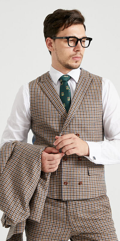 Royal Albert Houndstooth Tweed Suit