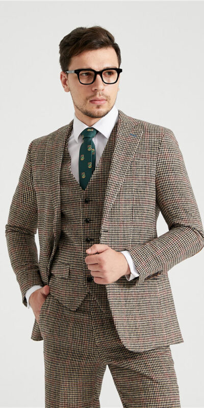 King Edward Houndstooth Tweed Suit