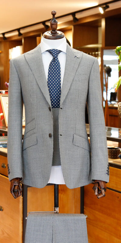 Summer Grey Houndstooth Suit
