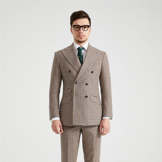 Royal Albert Houndstooth Double Breasted Tweed Suit