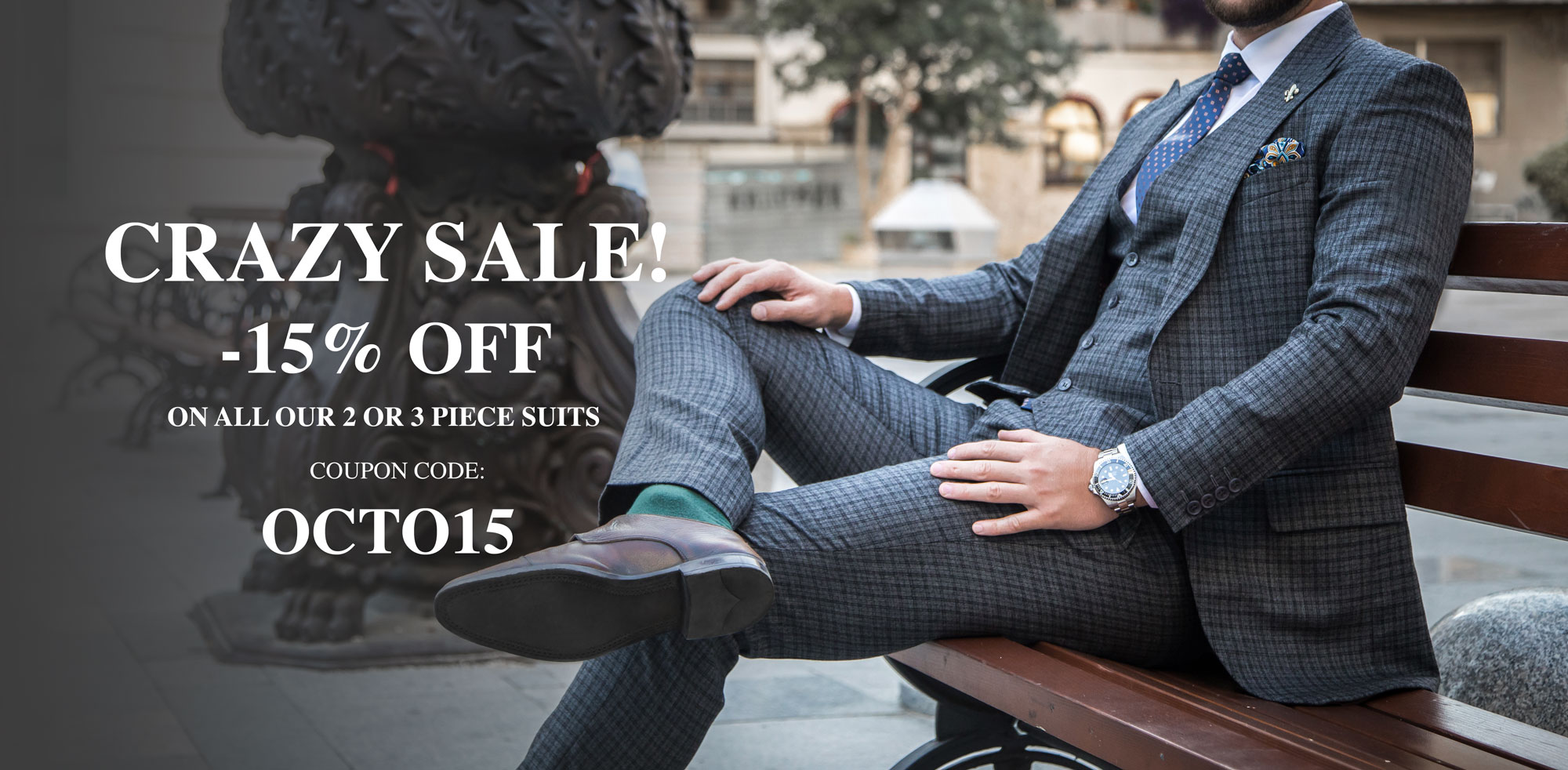 15% OFF MENS TWEED SUITS